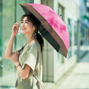 [BICHERIE.]100%完全遮光 晴雨兼用日傘 B-長傘