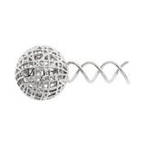 [France Luxe]メタル メッシュ ボール    スクリュー ピンL(シルバー)