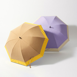 [BICHERIE.]バイカラー×シャンブレー 晴雨兼用日傘 50cm