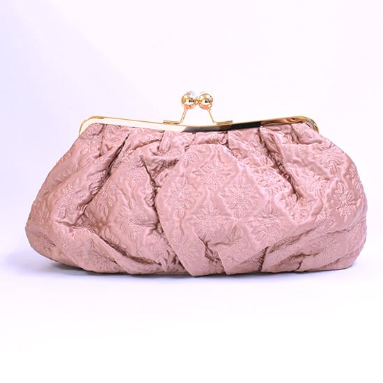 [MOLLY MARAIS]MM トイレットバッグ パウダーロゴキルト サテン