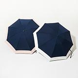 [BICHERIE.]100%完全遮光 晴雨兼用 折りたたみ日傘 3段タイプ バイカラー