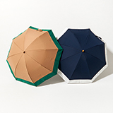 [BICHERIE.]100%完全遮光 晴雨兼用 折りたたみ日傘 2段タイプ バイカラー