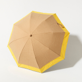 [BICHERIE.]100%完全遮光 晴雨兼用 折りたたみ日傘 2段タイプ バイカラー シャンブレー
