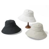 [BICHERIE.]100%完全遮光 国産 つば広 帽子 ナチュールセーラー 麻スラブ 撥水加工