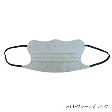 [D.masque]ディーマスク1セット(5枚入り)【ライトグレー×ブラック】