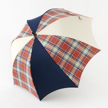 [BICHERIE.]100%完全遮光 晴雨兼用日傘 Sサイズ 50cm アーチ ミックスカラー チェック