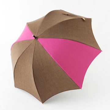 [BICHERIE.]100%完全遮光 晴雨兼用日傘 Sサイズ 50cm アーチ ミックスカラー シャンブレー