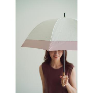 [BICHERIE.]100%完全遮光 晴雨兼用日傘 A-長傘