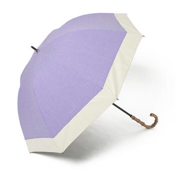 [BICHERIE.]100%完全遮光 晴雨兼用日傘 Mサイズ 55cm バイカラー パープル×ベージュ