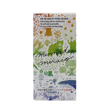 [minnademiraio]【詰替用】米ぬか酵素洗顔クレンジング+CLAY