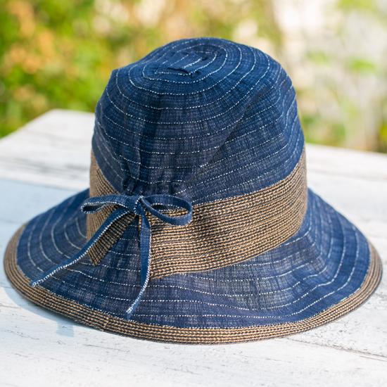 デニムグログランUVカット帽子