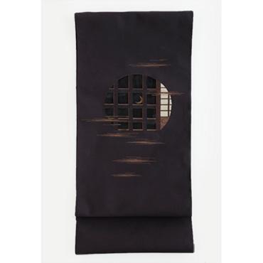 [小玉紫泉つづれ織工房【西陣織】]小玉紫泉つづれ織工房 帯 透月