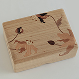 [彫刻工房 小谷純子【京指物】]彫刻工房 小谷純子 桐象嵌 小箱 グロリオサ