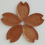 [彫刻工房 小谷純子【京指物】]彫刻工房 小谷純子 桜小皿 5枚セット
