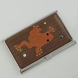 [彫刻工房 小谷純子【京指物】]彫刻工房 小谷純子 カードケース 蛙