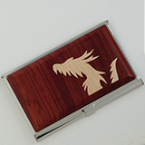 [彫刻工房 小谷純子【京指物】]彫刻工房 小谷純子 カードケース 龍