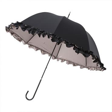 [mikifille]白川みきのおリボンUVカットフリル日傘