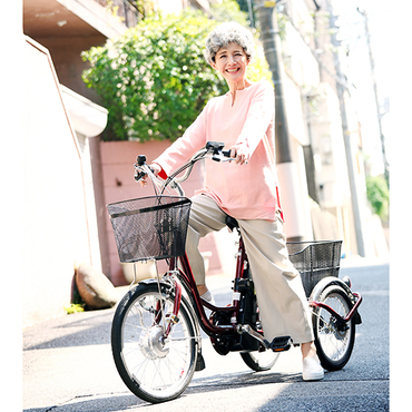 [ACTIVEPLUS]ノーパンク電動アシスト三輪自転車