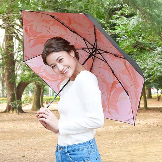[solshade]100%遮光晴雨兼用ソルシェード【ローズ】