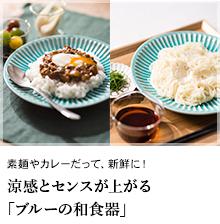素麺やカレーだって、新鮮に!涼感とセンスが上がる「ブルーの和食器」