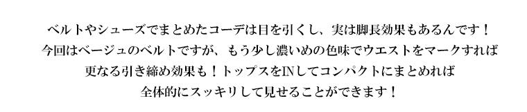 Vol.6 初夏に楽しむ白ボトムコーデ Coordinate1テキスト03