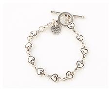 bump heart bracelet