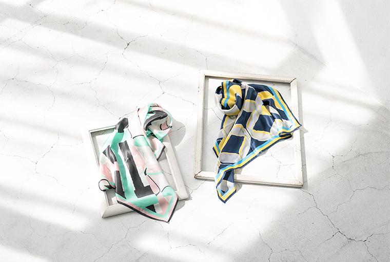 silk print geometric