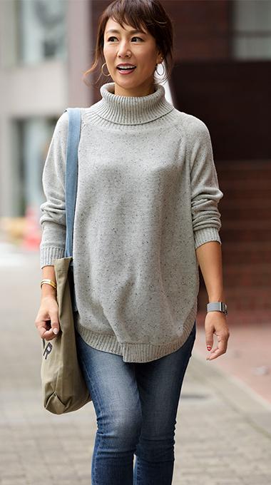 ニットケープセーター