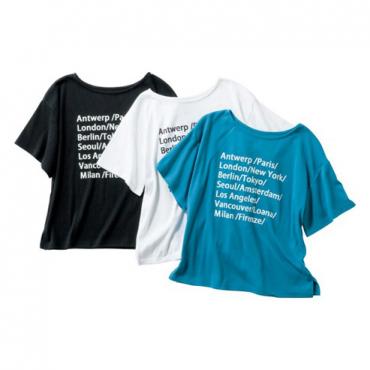 [LOANA]CITYロゴTシャツ