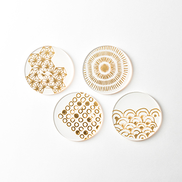 [toumei]箔 coaster (4枚セット)