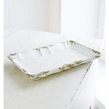 [Wako's Room]シャビーホワイト・ミニトレー 4枚セット
