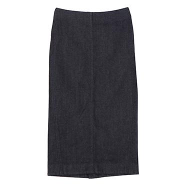 優待価格[Harriss]ミドル丈カジュアルタイトスカート(デニム)