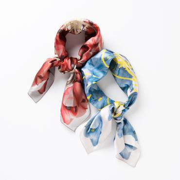 [Fil D'araignee]silk print tulip