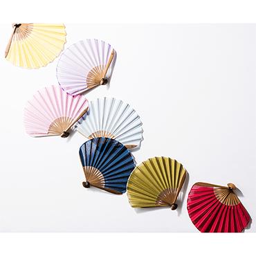 [西川庄六商店]ガーゼ素材のふわり扇子