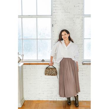 [LiSA LiSA]ウエストゴムマキシ丈スカート