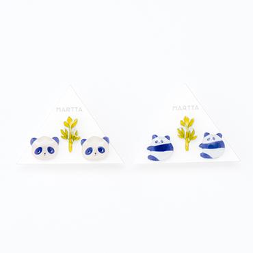 [MARTTA]パンダ&笹ピアス