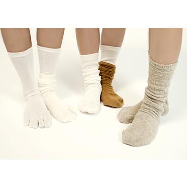 [くらしきぬ]冷えとり靴下4足セット