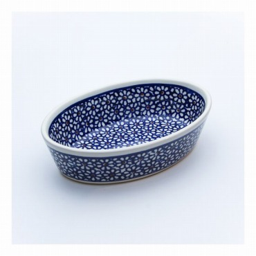 [Zaklady Ceramiczne]オーブン皿・オーバル・ミニ (フラワー)
