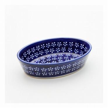 [Zaklady Ceramiczne]オーブン皿・オーバル・ミニ (インディゴ)