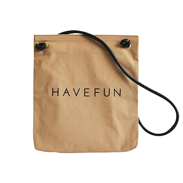[HAVEFUN]ロゴ入りキャンバスバッグ/BONNIE