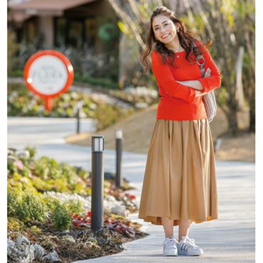 [LiSA LiSA]フレアへムバックロングスカート