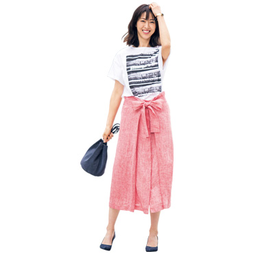[Harriss]フロントリボンスカート