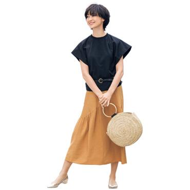 [C+]カラーフレアスカート