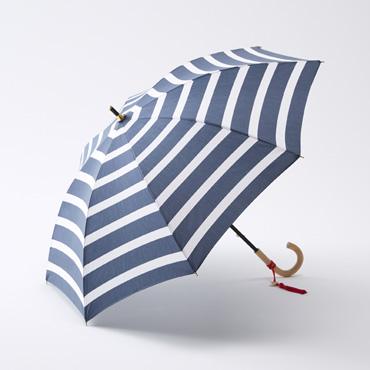 [Saison Tourne]晴雨兼用長傘 ストライプ