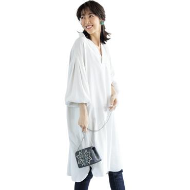 [12 LEFTY]Vネックドレス