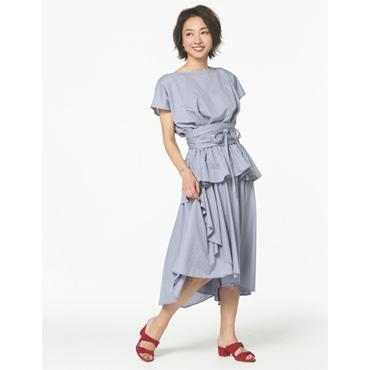 [MARIEBELLE JEAN]Ruffled Skirt