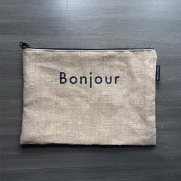 [FRANCJOUR]ボンジュールリネンポーチ(26cm×18.5cm)M