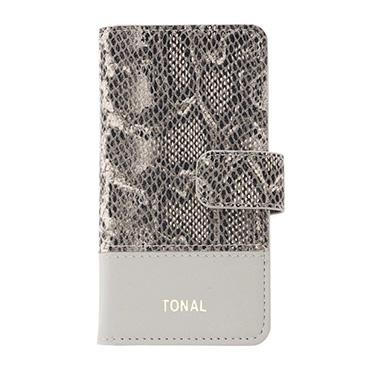[TONAL]パイソン iPhoneフリップケース