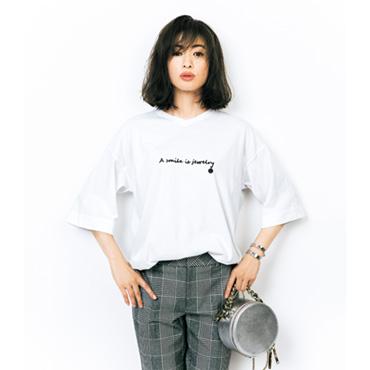 [Vingt Neuf]さりげなロゴ&SMILE Tシャツ