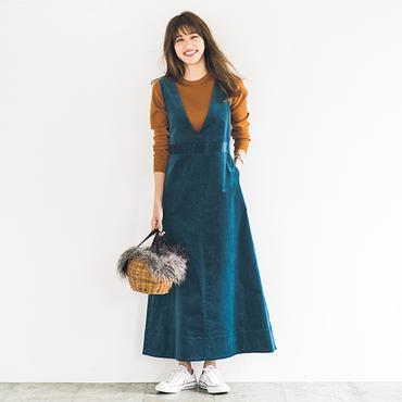 [SLOBE IENA]コーデュロイジャンパースカート